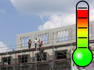 Golpe de calor en obra de construcción