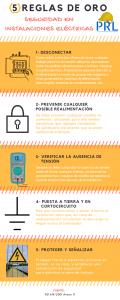5 reglas de oro electricidad - infografia