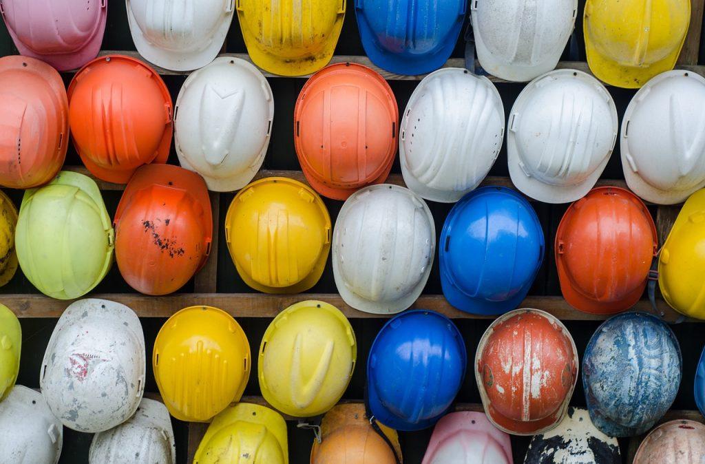 casco de seguridad colores