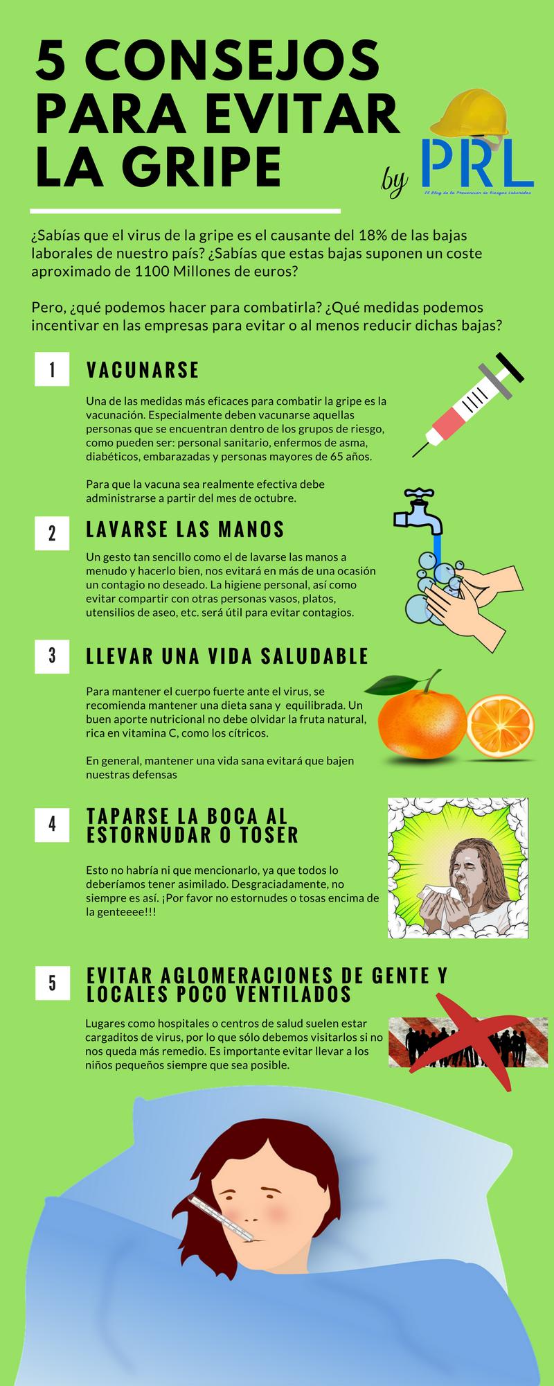 5 consejos para evitar la gripe