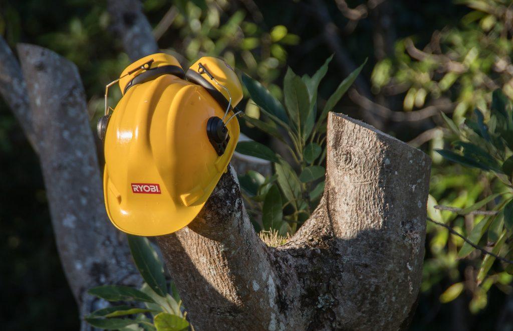 casco de seguridad con orejeras