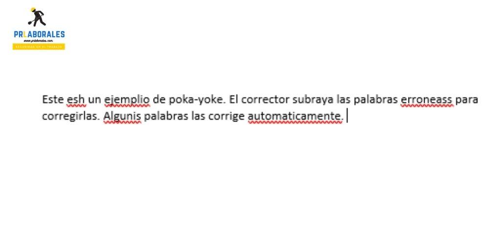 poka yoke ejemplo